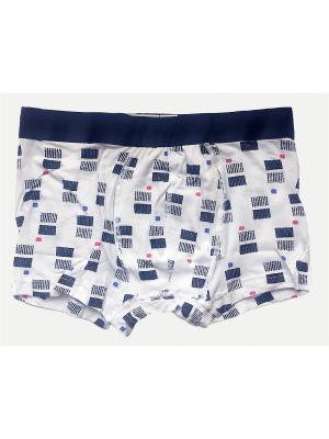 Трусы Oztas underwear. Цвет: темно-синий, синий, розовый, белый