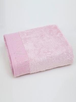 Полотенце Унисон. Цвет: бледно-розовый