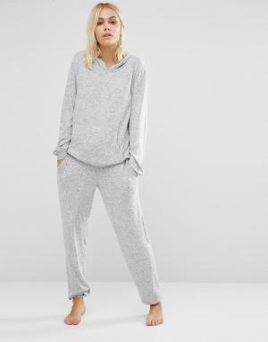 Boux Avenue Пижамный комплект из свободного топа и брюк. Цвет: серый