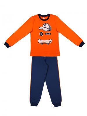 Пижама для мальчика Cherubino. Цвет: оранжевый