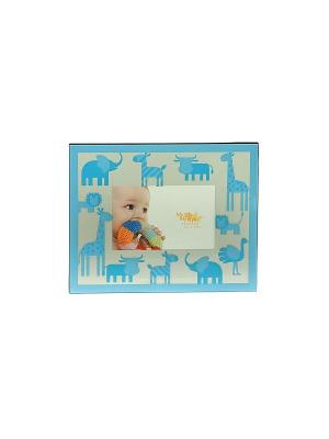 Фоторамка Наш малыш 15*10см Русские подарки. Цвет: голубой