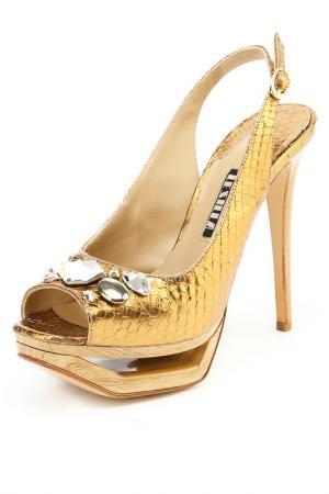 Босоножки Le Silla. Цвет: золотой