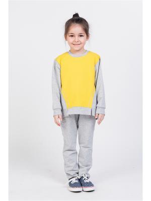 Свитшот ETE CHILDREN. Цвет: светло-желтый