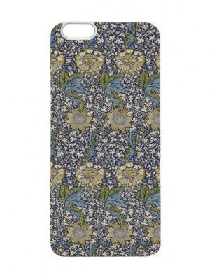 Чехол для iPhone 6 Синий гобелен с подсолнухами Chocopony. Цвет: синий, белый
