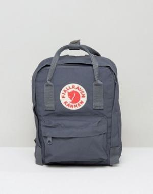 Fjallraven Маленький рюкзак Kanken. Цвет: серый