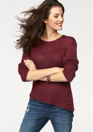 Пуловер Aniston. Цвет: вишневый