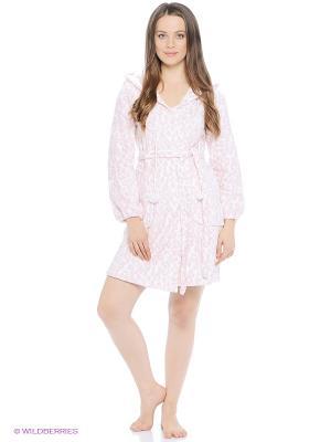 Халаты Lelio. Цвет: белый, розовый
