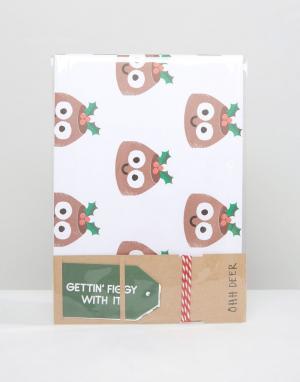 OHH DEER Подарочная упаковочная бумага Christmas. Цвет: мульти