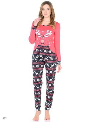 Пижама NICOLETTA. Цвет: малиновый