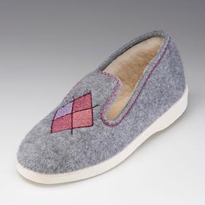 Тапки мягкие из текстиля с вышивкой THERMOLACTYL BY DAMART. Цвет: розовый,светло-серый,светлый каштан