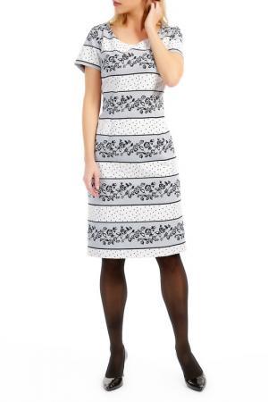 Платье TOK. Цвет: white, black