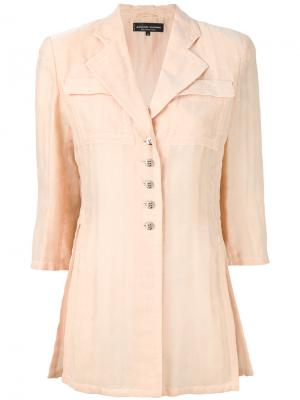 Пиджак с рукавами три четверти Jean Louis Scherrer Vintage. Цвет: жёлтый и оранжевый