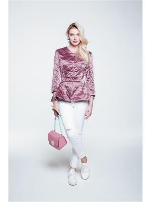 Куртка SoloU. Цвет: бледно-розовый