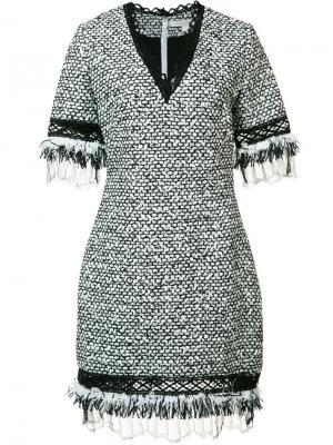Платье с V-образным вырезом Jonathan Simkhai. Цвет: белый