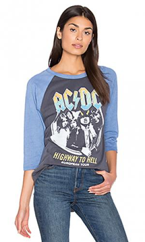 Футболка acdc highway to hell Junk Food. Цвет: серый