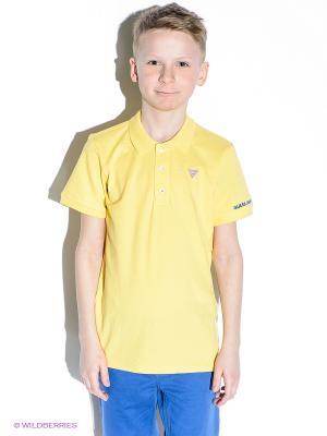 Футболка-поло GUESS. Цвет: желтый