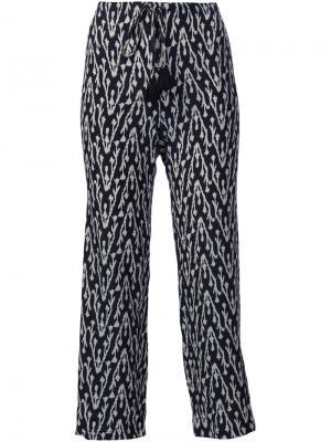 Укороченные брюки Zamba Figue. Цвет: чёрный