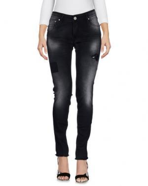 Джинсовые брюки DON'T CRY. Цвет: стальной серый