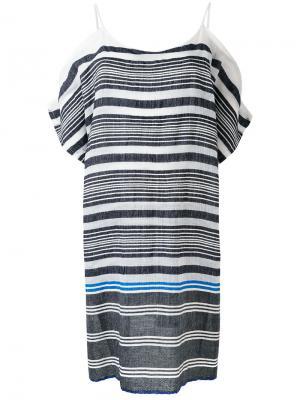 Платье в полоску Lemlem. Цвет: синий
