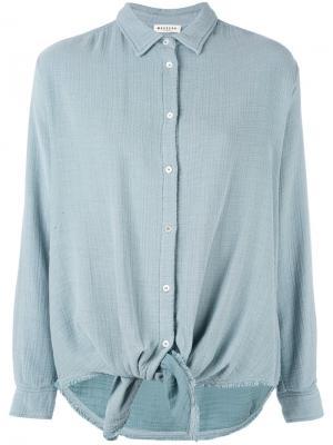 Tie front shirt Masscob. Цвет: синий
