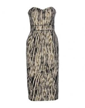 Платье до колена BADGLEY MISCHKA. Цвет: бежевый