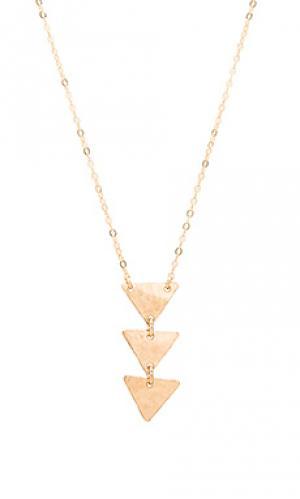 Ожерелье brooke Mimi & Lu. Цвет: металлический золотой
