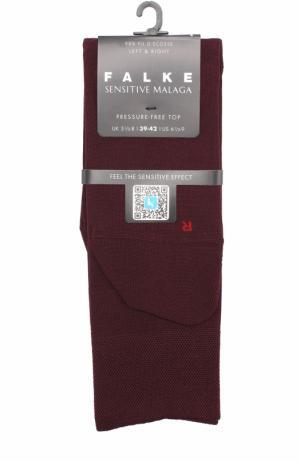 Хлопковые носки Sensitive Malaga Falke. Цвет: бордовый