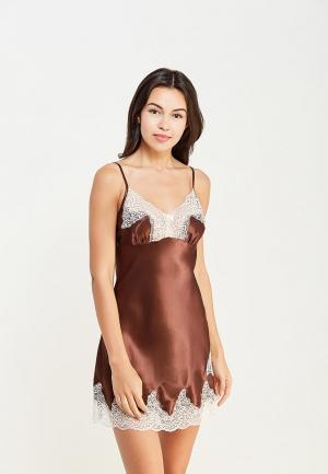 Сорочка ночная Mia-Amore. Цвет: коричневый