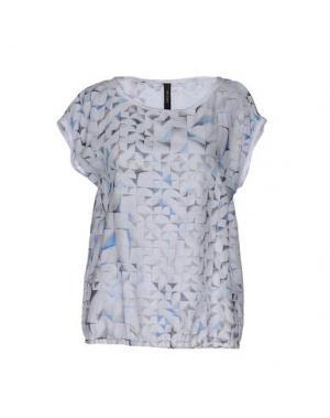 Блузка MARC CAIN. Цвет: светло-серый