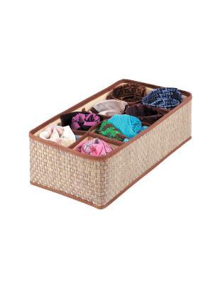 Органайзер для шейных платков и галстуков 8 ячеек 35х16х10см бежевый OR-022 CASY HOME. Цвет: коричневый, бежевый
