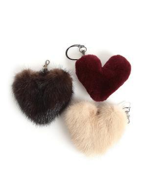 Брелоки, оригинальный подарок, сделан из меха норки (в ассортименте) Mex-Style. Цвет: темно-коричневый