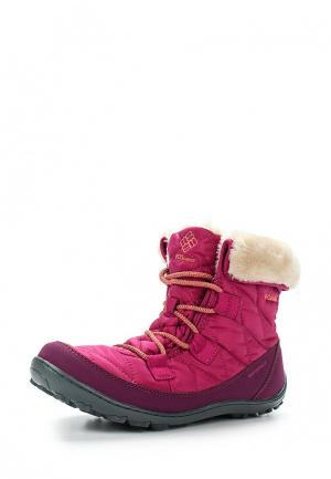 Ботинки Columbia. Цвет: розовый