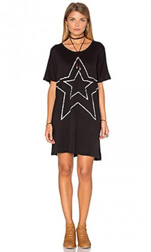 Платье-туника star SUNDRY. Цвет: черный
