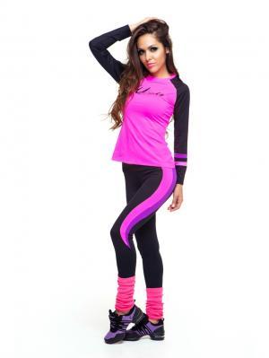 Леггинсы DZETA. Цвет: розовый, черный, фиолетовый