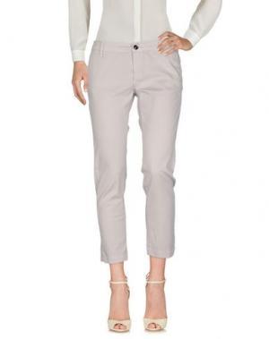Повседневные брюки RRD. Цвет: светло-серый
