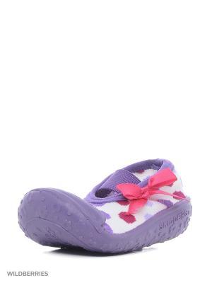 Пинетки SKIDDERS. Цвет: серый, фиолетовый