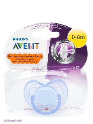 Пустышка Philips Avent серия Freeflow SCF178/13, 1 шт., 0-6 мес.. Цвет: голубой