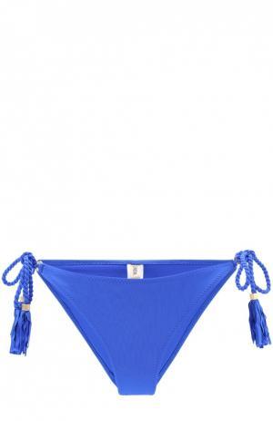 Плавки-бикини с декоративной отделкой Lazul. Цвет: синий