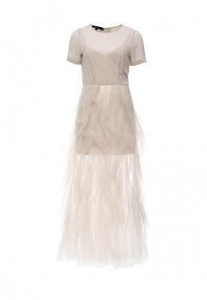 Платье BCBGMAXAZRIA. Цвет: серый