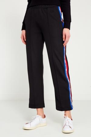 Черные брюки с лампасами Etre Cecile. Цвет: черный