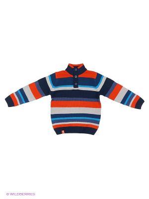 Свитер PlayToday. Цвет: синий, серый, оранжевый