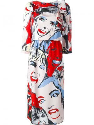Платье Scream Queen Marc Jacobs. Цвет: многоцветный