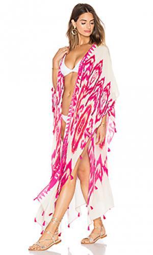 Long cape jacket HEMANT AND NANDITA. Цвет: розовый