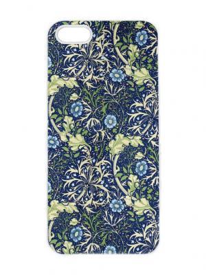 Чехол для iPhone 5/5s Сине-зеленый пейсли Chocopony. Цвет: белый, черный, синий, зеленый, салатовый, голубой