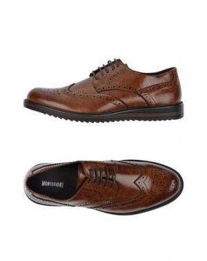 Обувь на шнурках MONTEFIORI. Цвет: коричневый