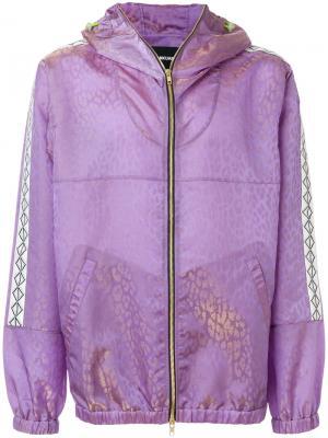 Куртка с леопардовым принтом Sankuanz. Цвет: розовый и фиолетовый