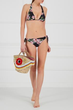 Плетеная сумка-корзинка Magical Beads Micaela Spadoni. Цвет: multicolor