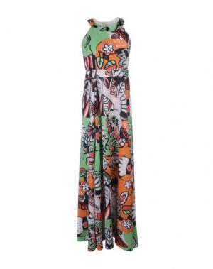 Длинное платье MARIUCCIA. Цвет: светло-зеленый