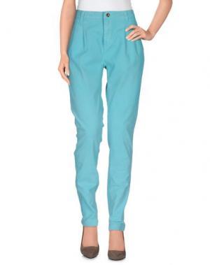 Повседневные брюки AMY GEE. Цвет: бирюзовый