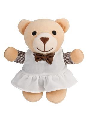 Игрушка мягкая музыкальная - мишка, 0+ форма:девочка Canpol babies. Цвет: светло-коричневый, темно-бежевый
